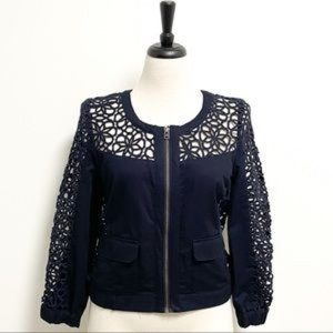 Anthropologie elevenses lace jacket